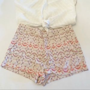 Free People Aztec Linen blend shorts